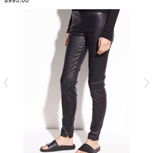 Leather Zip Ankle Legging